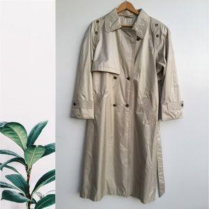 Vintage Cambridge Long Trench Coat Tan 14